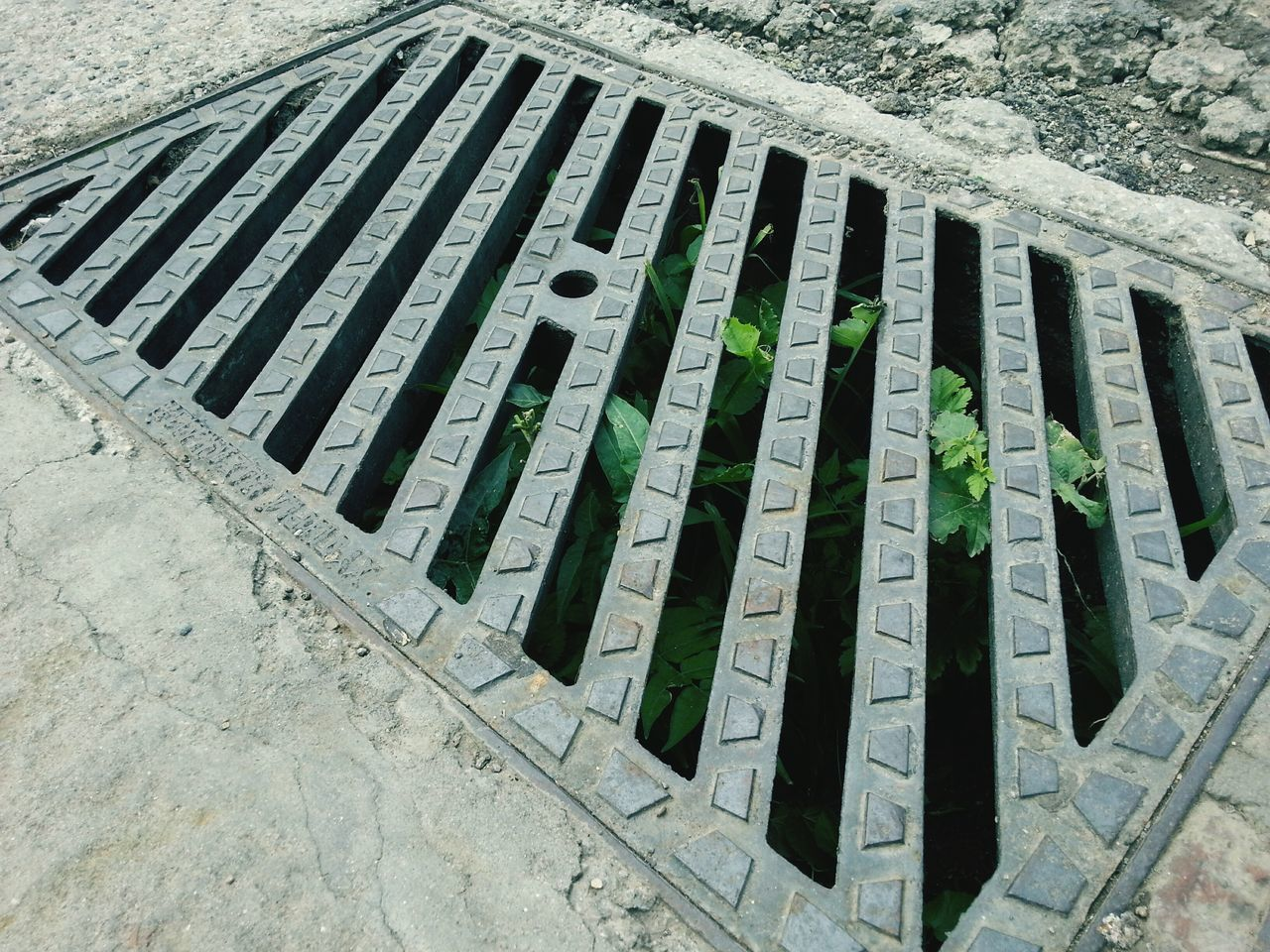 high angle view, day, sewer, outdoors, sewage, no people, close-up