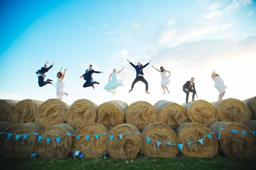 Field Hay Bale  Outdoors Rural Scene People Agriculture Bride Groom Isleofman Young Adult Bridegroom Togetherness Wedding Photography Celebration Wedding Day Love Happiness Creative Photography Weddings Around The World Field Wedding Dress VSCO Creative Two People