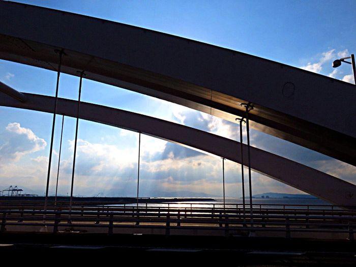 Bridge OnTheBridge Light Light And Shadow Lights Creative Light And Shadow Sunlight Sunlight ☀ Sea Sky