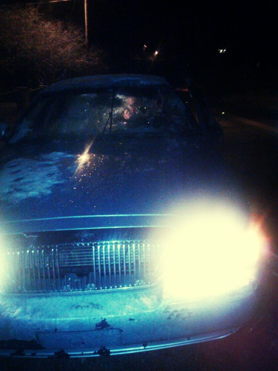 My cousins car after he crashed into a cow :o it was waay worse than it looks /: