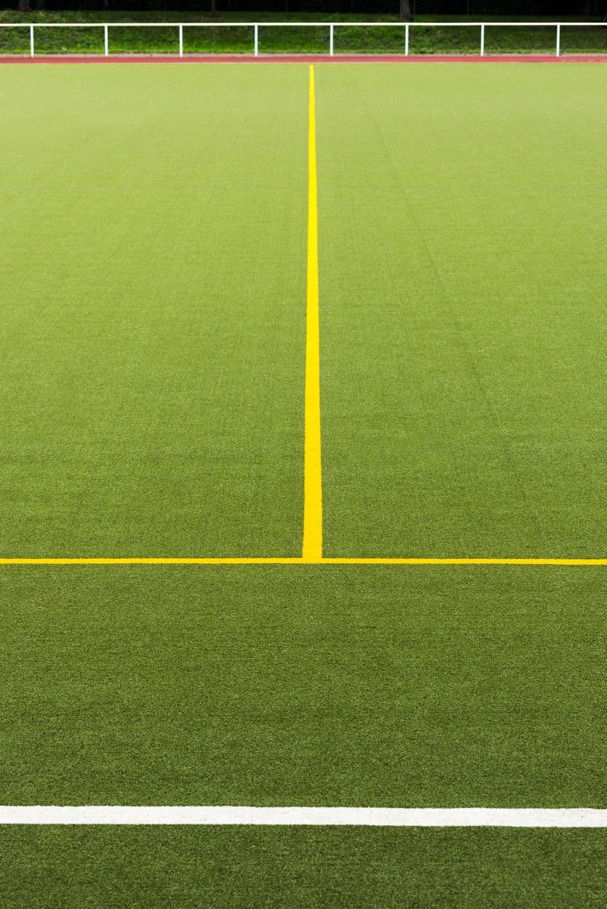 sport, green color, playing field, grass, soccer, soccer field, competitive sport, no people, competition, outdoors, day, sports team