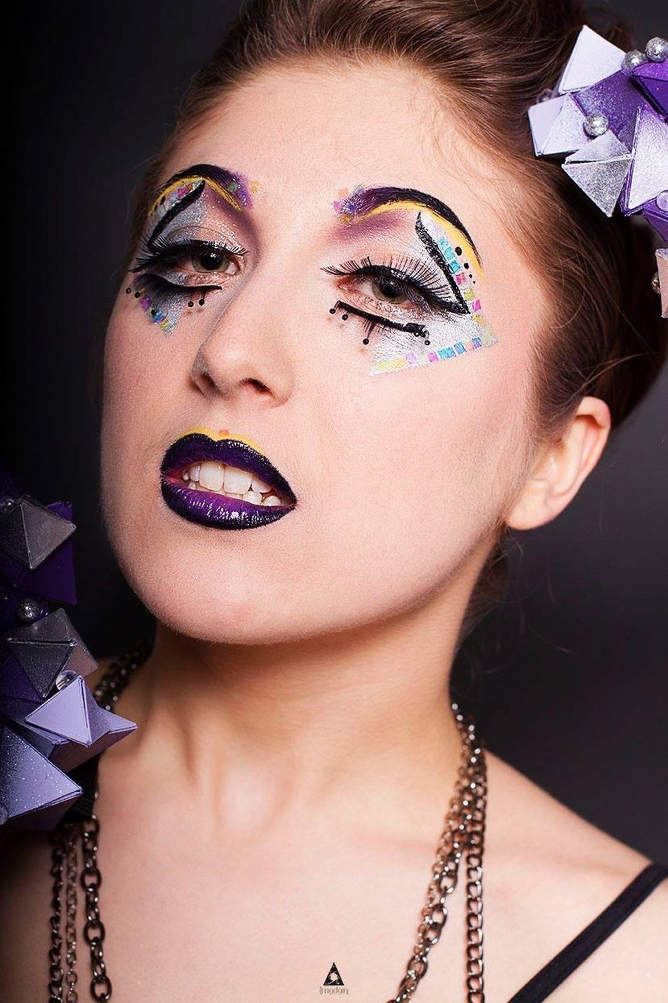 Lash Show, Makeup by Marion Maquillage Makeup Make Up Forever Studio Concours Purple Violet Photooftheday Photography Imadgin Maquillage Fashion Beauty Gaga