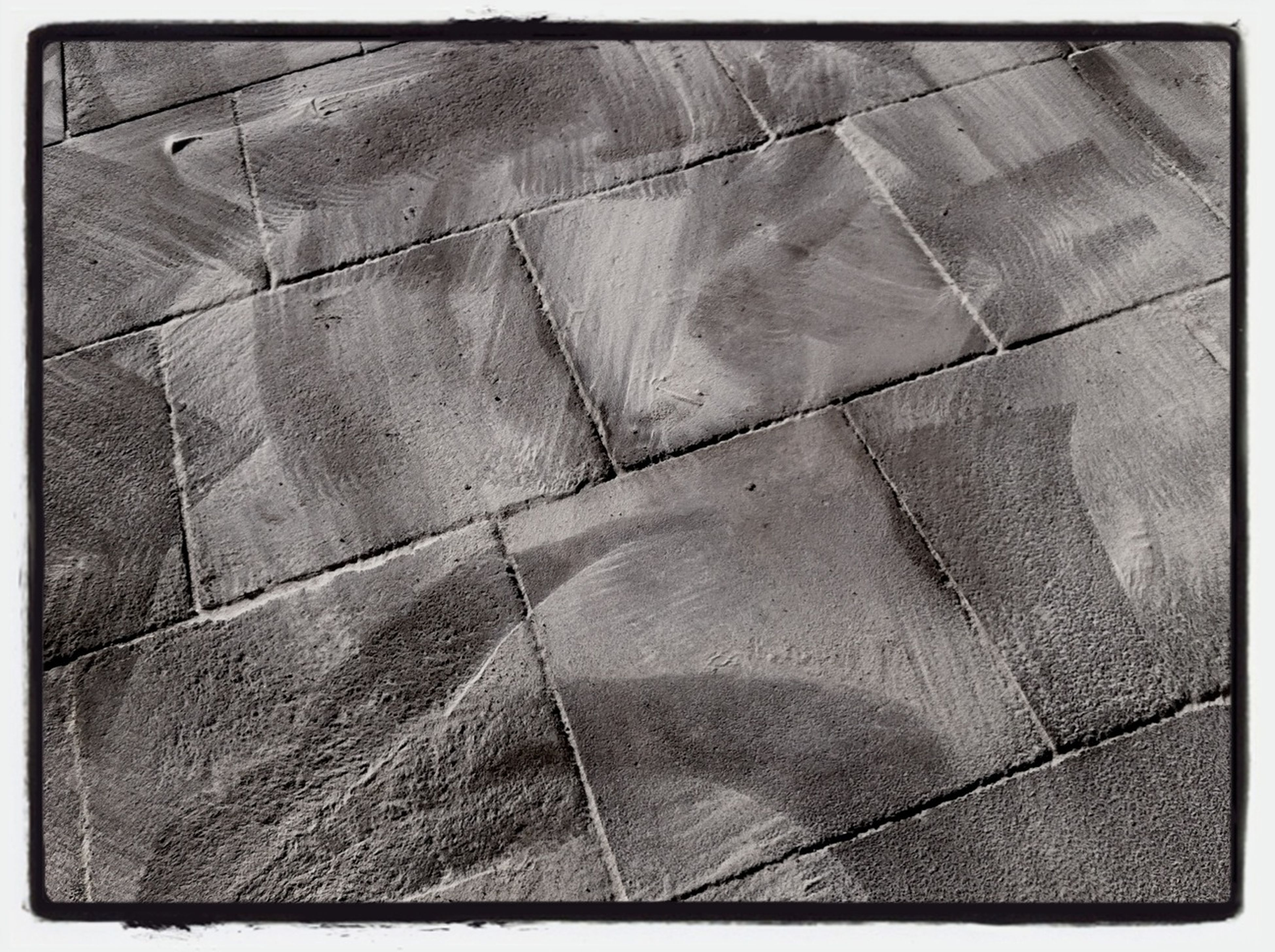 transfer print, auto post production filter, pattern, full frame, high angle view, backgrounds, close-up, indoors, textured, day, sunlight, no people, built structure, architecture, tile, design, shape, tiled floor, shadow
