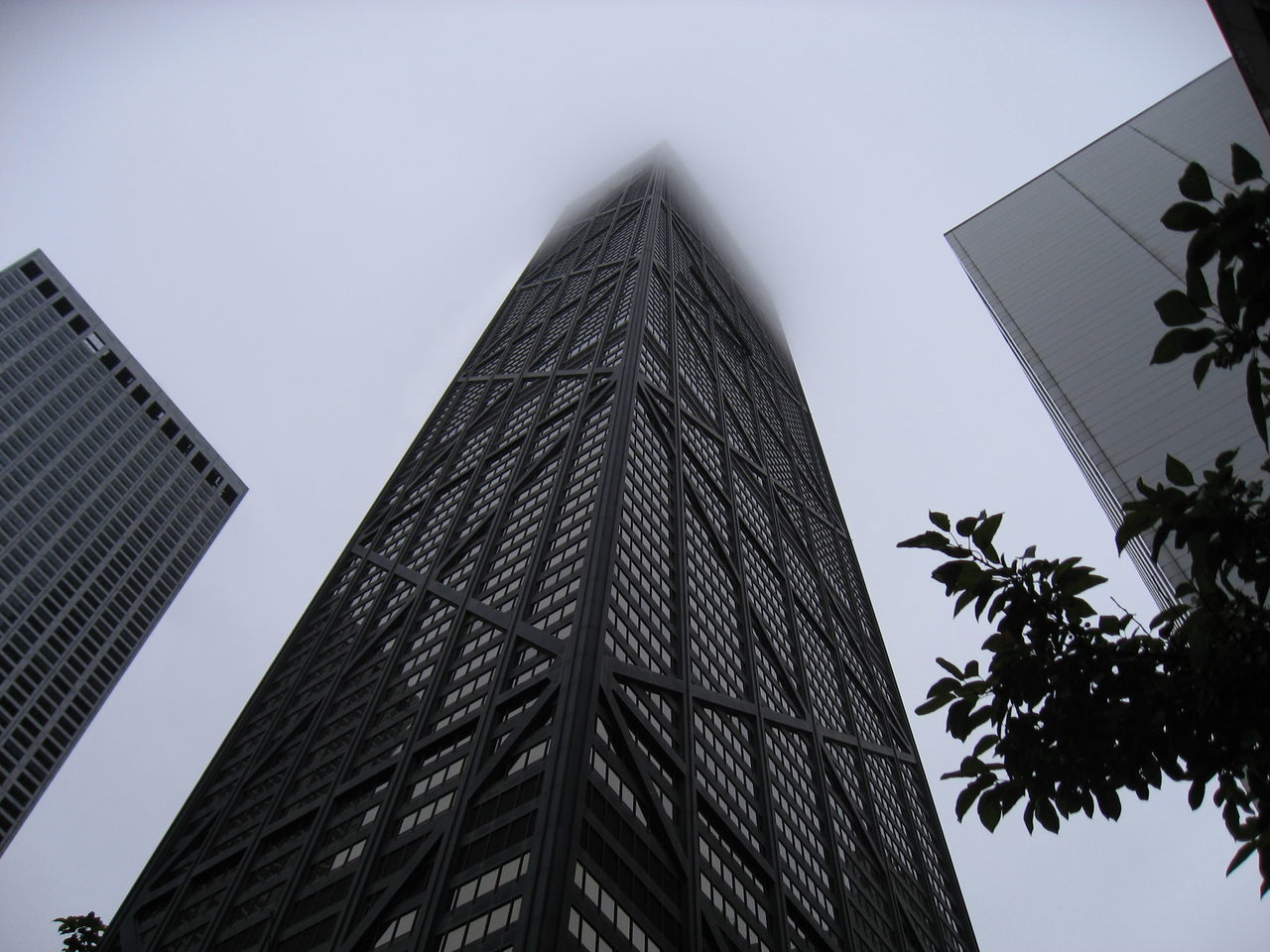 Architecture Building Chicago Chicago Architecture Fog Hangcocktower Skyscraper USA