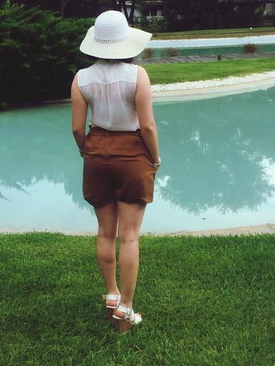Holiday with Love Water Rear View Person Casual Clothing Day Summer Green Nature Outdoors Green Color Freshness Purity Alone Non-urban Scene Scenics Tranquility Escapism Tranquil Scene First Eyeem Photo