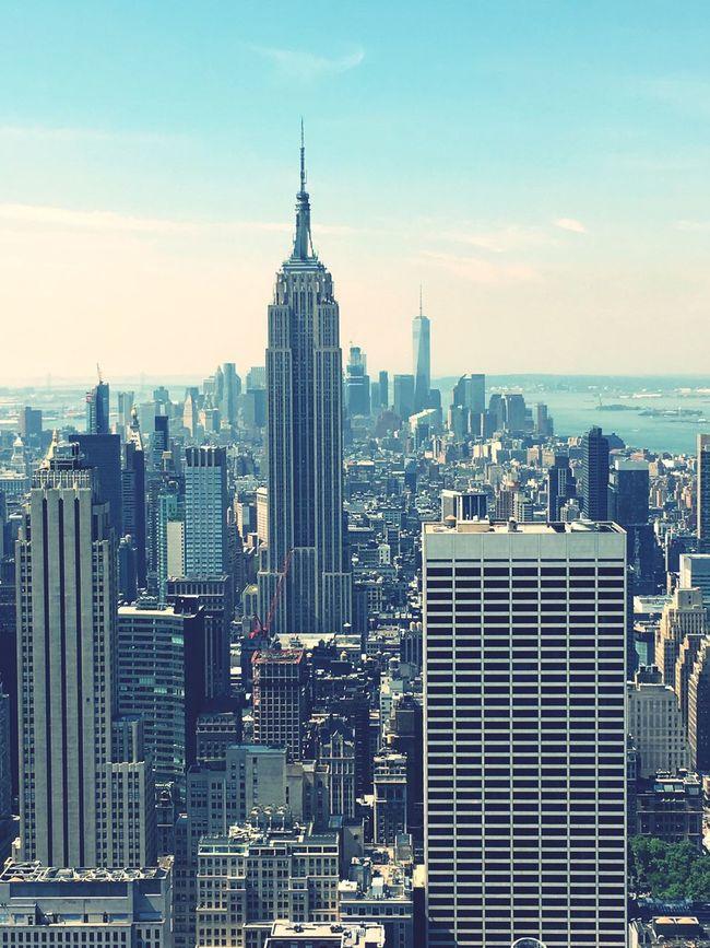 Top of the rock Newyork New York City Topoftherock Skyline Empire Empire State Building