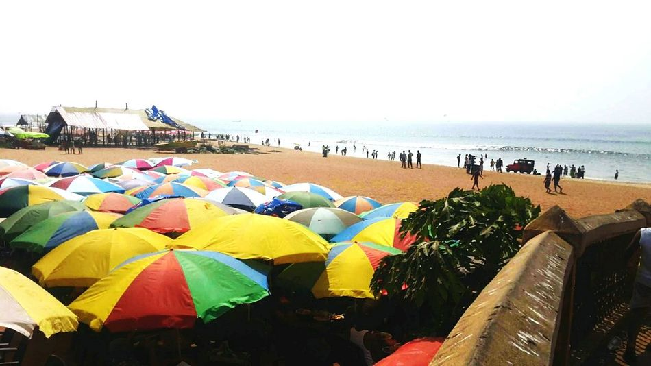 Place to hide from Sunlight Multi Colored Tourism Water Travel Destinations Beach Vacations Day Goa ❤❤ Beachphotography