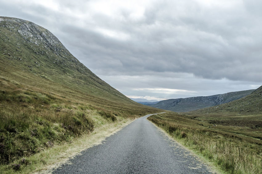 Autumn Clouds And Sky Countryside Exploring Hill Horizon Over Land Ireland Landscape Mountain Mountain Range Mountains And Sky Road FujiFilm X100