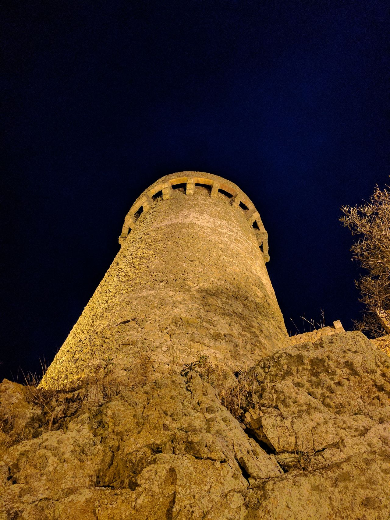 Low Angle View Ancient Sky Outdoors Ancient History Ancient Civilization Day Concentric No People Star - Space Galaxy Astronomy Night Tossa De Mar No Edit/no Filter Castillo Torre