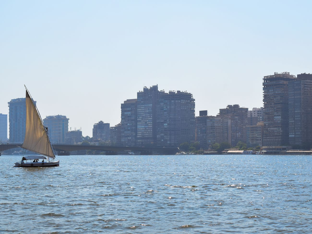 This photo was taken on the Nile from the bow of a rocking Boat. Egypt Cairo Cityscape Urban Skyline Boats Nikon River Nile Taking Risks