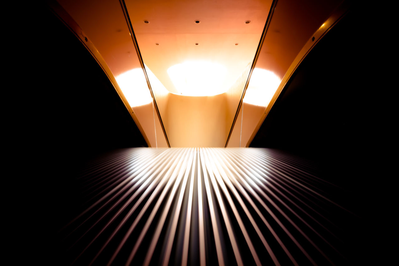 illuminated, lighting equipment, ceiling, indoors, empty, no people, modern, futuristic, architecture, projection equipment, day