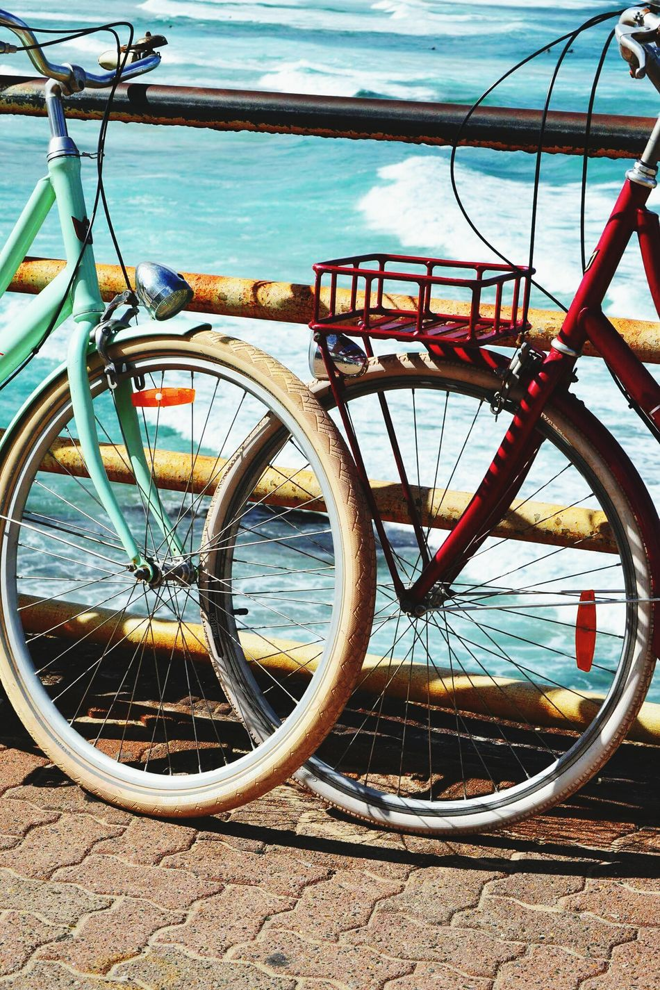 A Day At The Beach Bicycle Rack Outdoors Ocean Seaside_collection