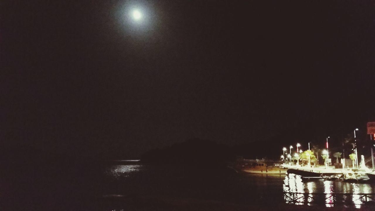 Full Moon Night Lights Seaside Phosphorescence