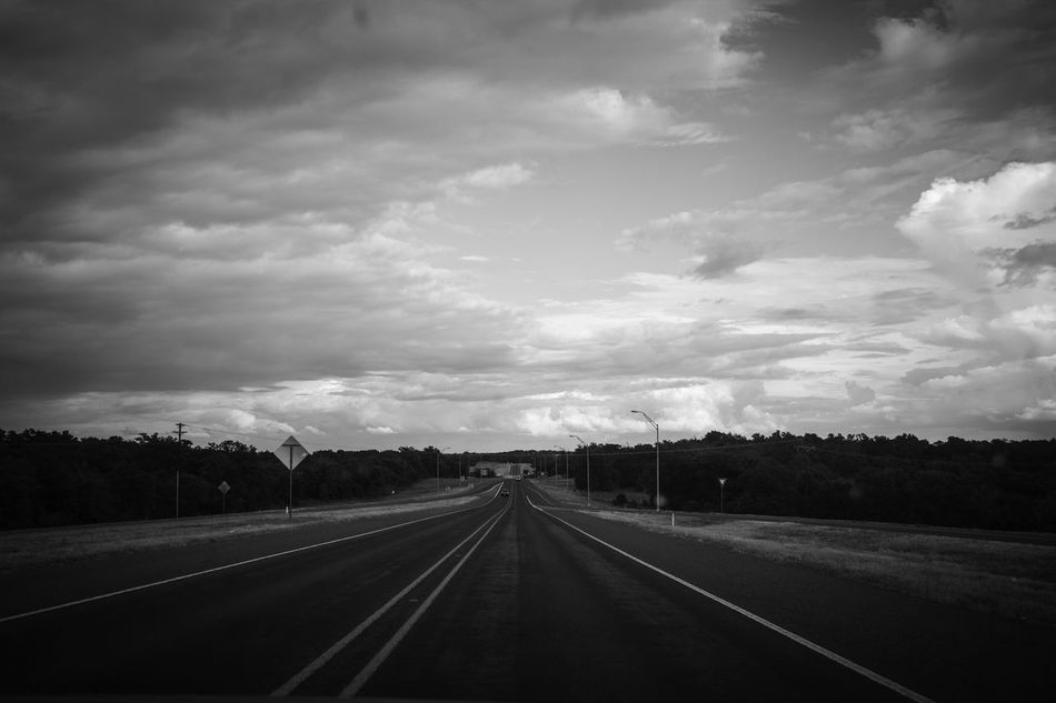 """An Unknown Journey"" Photographed in Texas by a Canon EOS Rebel T5 CarRides Clouds And Sky Distance Highway Nature Roadtrip Speeding Texas"