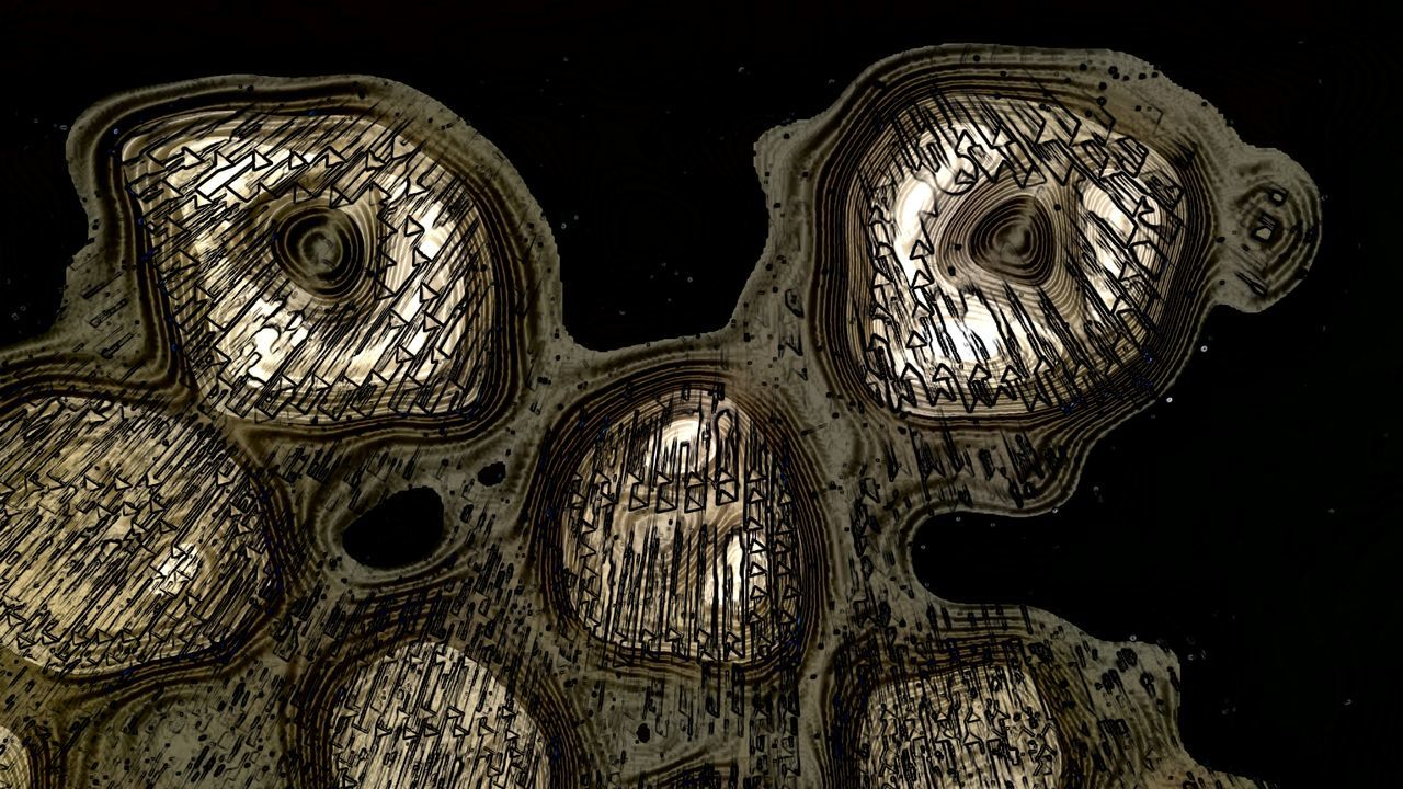 What is and what should never be Simulacrum Art Abstract Monsters Space Black & White Collection Cell Conceptual Futuristic Isolation Turmoil ANGST