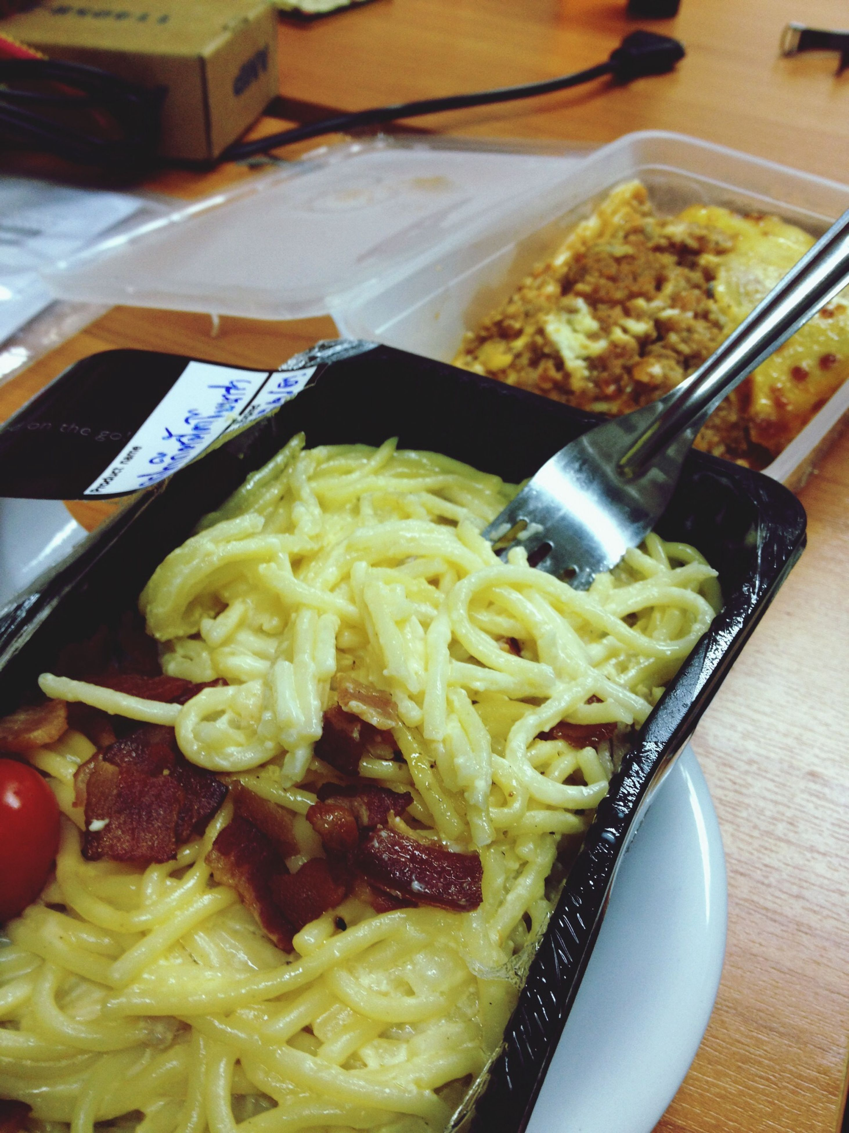 food and drink, food, indoors, freshness, ready-to-eat, plate, still life, meal, healthy eating, table, serving size, close-up, high angle view, indulgence, meat, bowl, italian food, noodles, cooked, fork