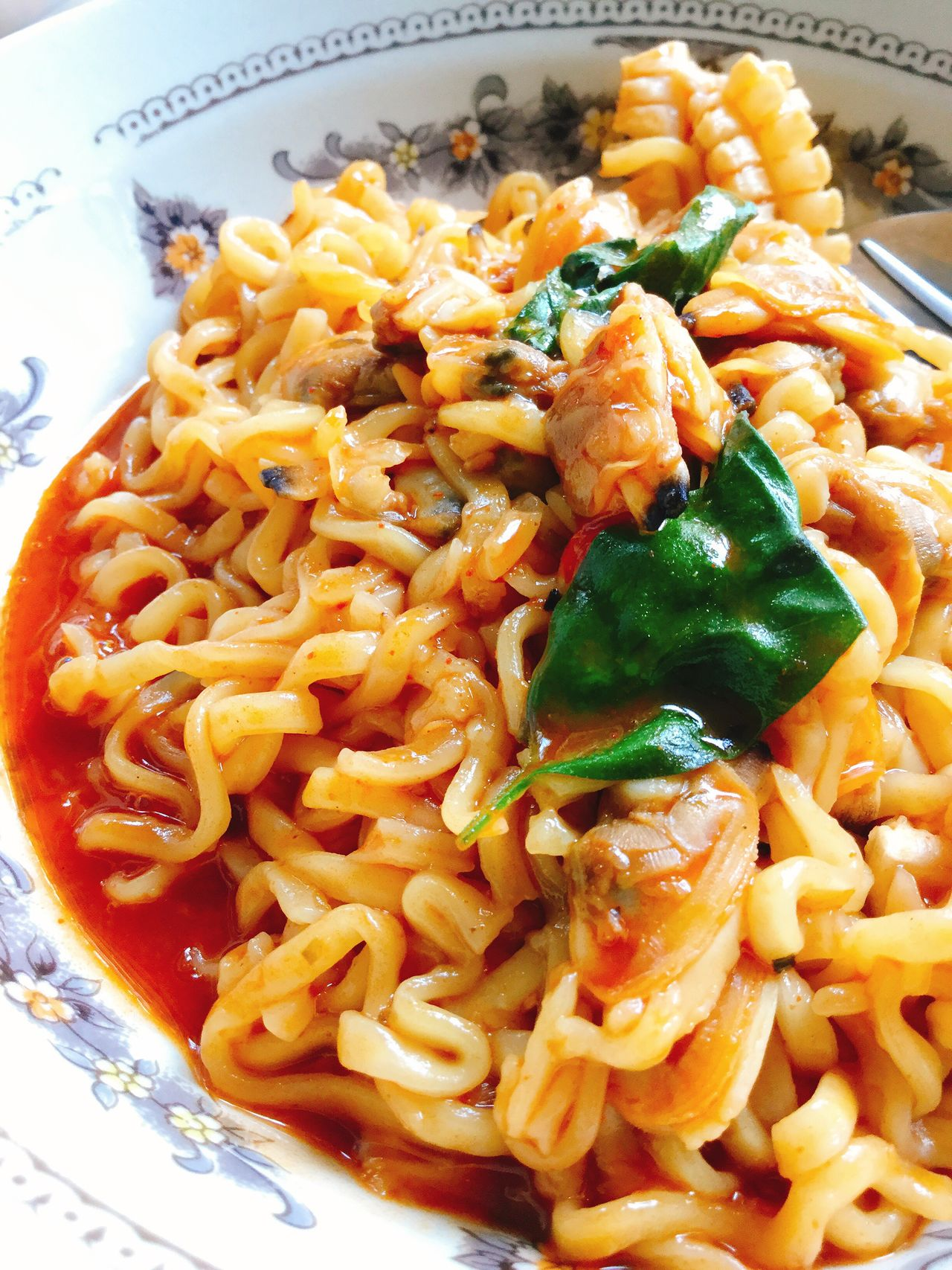 มาม่าเกาหลี 불닭볶음면 (บุลดักโบกกึมมยอน) Food Food And Drink Ready-to-eat Close-up Noodles Korea Food