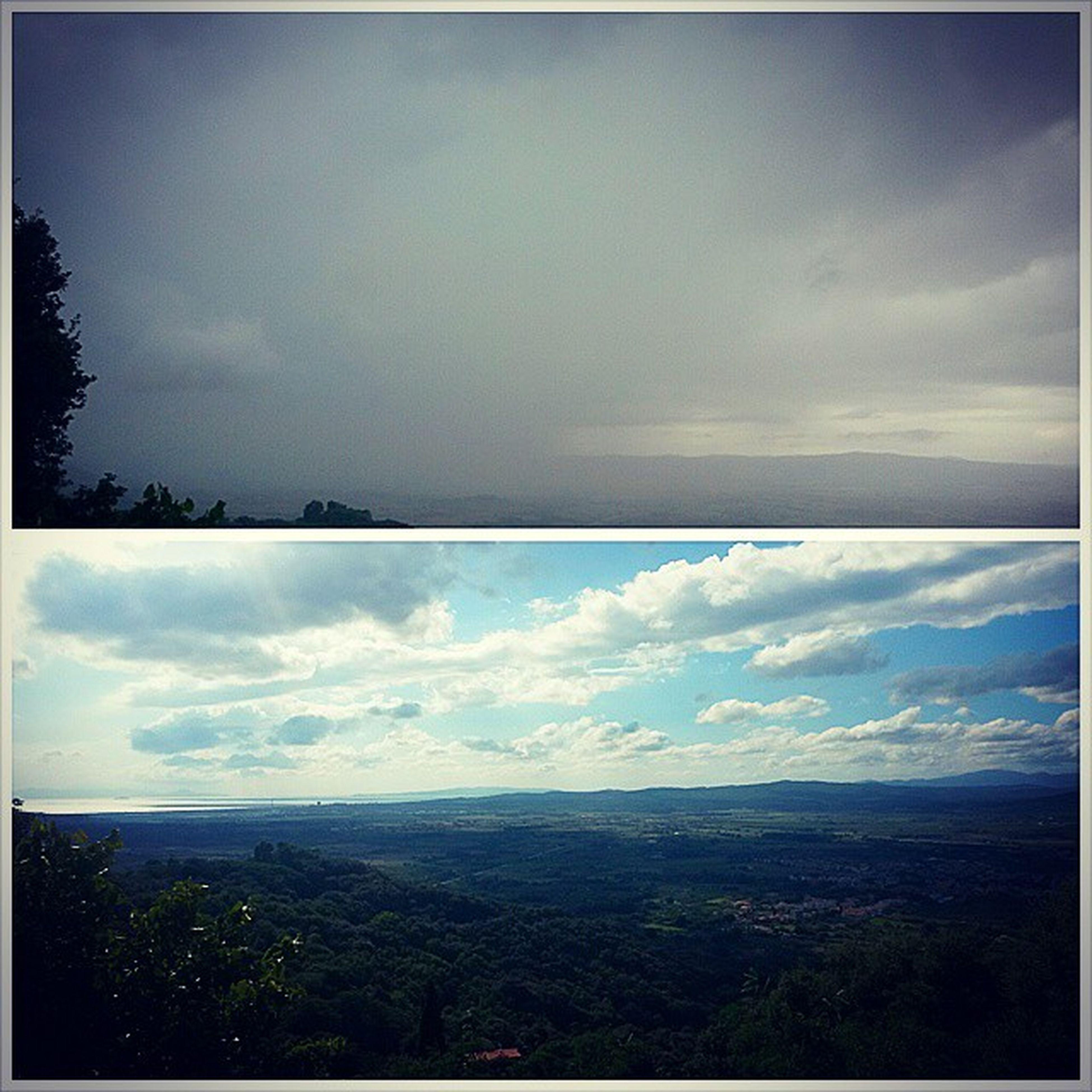 Primaedopo Tempopazzo Da15a30gradi Lestatequestannoècosì gavorrano toscana landscape follonica cloudy storm rain sunny sky