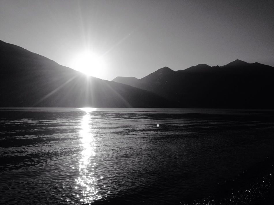 Maccagno Sunset Blackandwhite Lake Sun Beach Relaxing Leave Me Alone Overexposed Shades Of Grey
