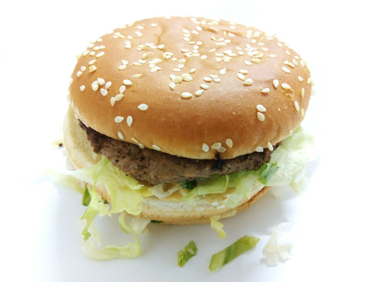 Hamburger Bread Burger Bun Food No People Sesame Seed Fast Food Close-up Ground Beef Day