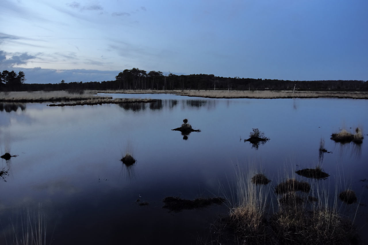 Elstead Moat Heathland Atmospheric Nature Atmospheric Sky Beauty In Nature Cloud Reflections Dusk Sky Heathland  Nature Reflection Scenics Sky Sunset Tranquil Scene Tranquility Water The Great Outdoors - 2016 EyeEm Awards