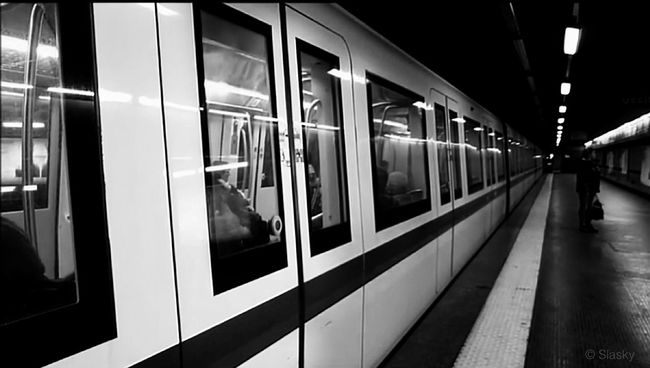 Blackandwhite Subway Monochrome People Watching Taking Photos Just Around The Corner