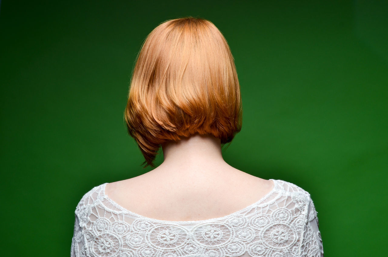 Adult Adults Only Anonymity Anonymous Close-up Colored Background Day Digital Composite Green Background Green Color Headshot Hiding Model One Person One Woman Only One Young Woman Only Only Women People Rear View Redhead Secret Shy Studio Shot Young Adult Young Women Fresh On Market 2017