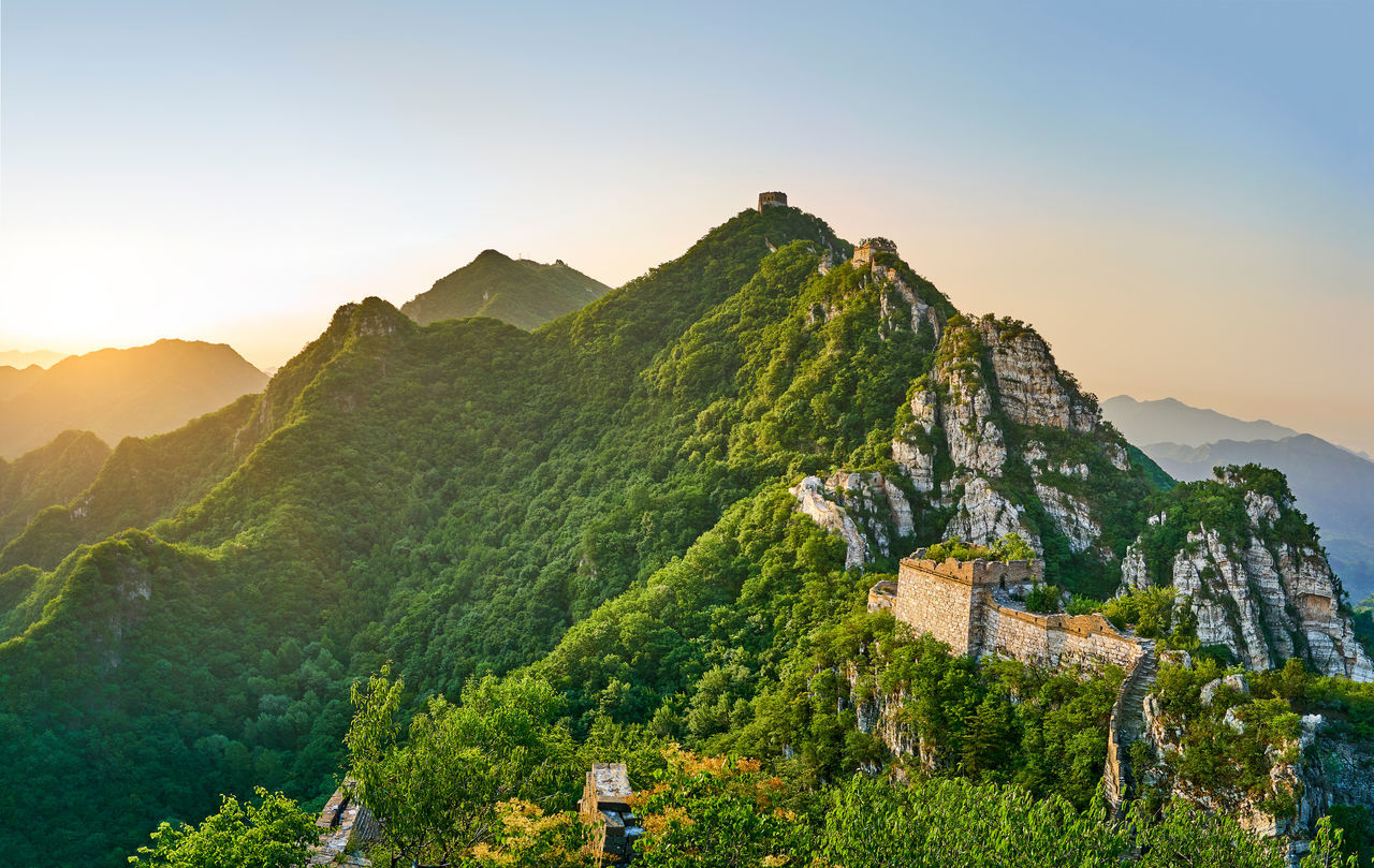 Summer tour of the Great Wall Architecture Beauty In Nature Beijing Beijing Scenes Beijing Trip Beijing, China BEIJING北京CHINA中国BEAUTY China China Beauty China Photos China View Great Wall Great Wall Of China Landscape Mountain Mountain Range Nature No People Outdoors Sunlight Sunrise Tranquil Scene Tranquility Travel Travel Destinations