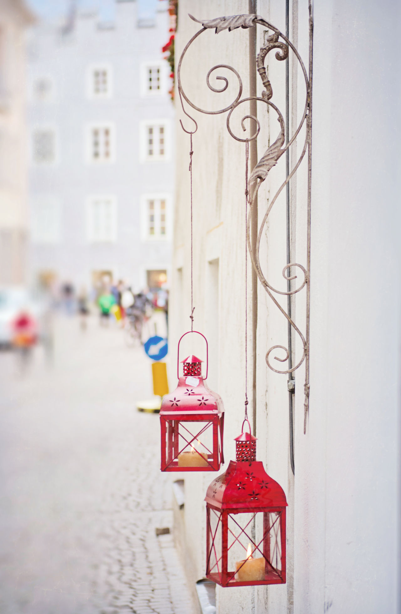 Close up of two red lanterns in Bressanone in the Italian Alps Bressanone Brixen  Building Exterior Close-up Europe European  Focus On Foreground Italian Alps Italy No People Outdoors Red Red Lanterns Shopping Travel Travel Photography