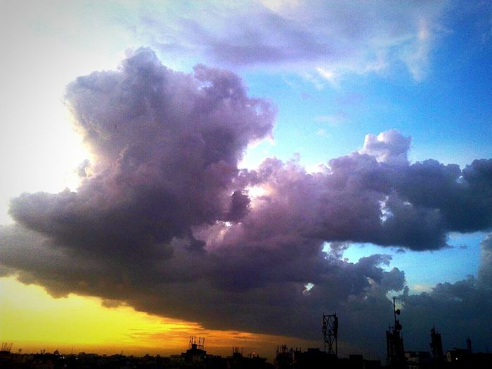 Sky And Clouds Darkness And Light Chillout Evening !!!