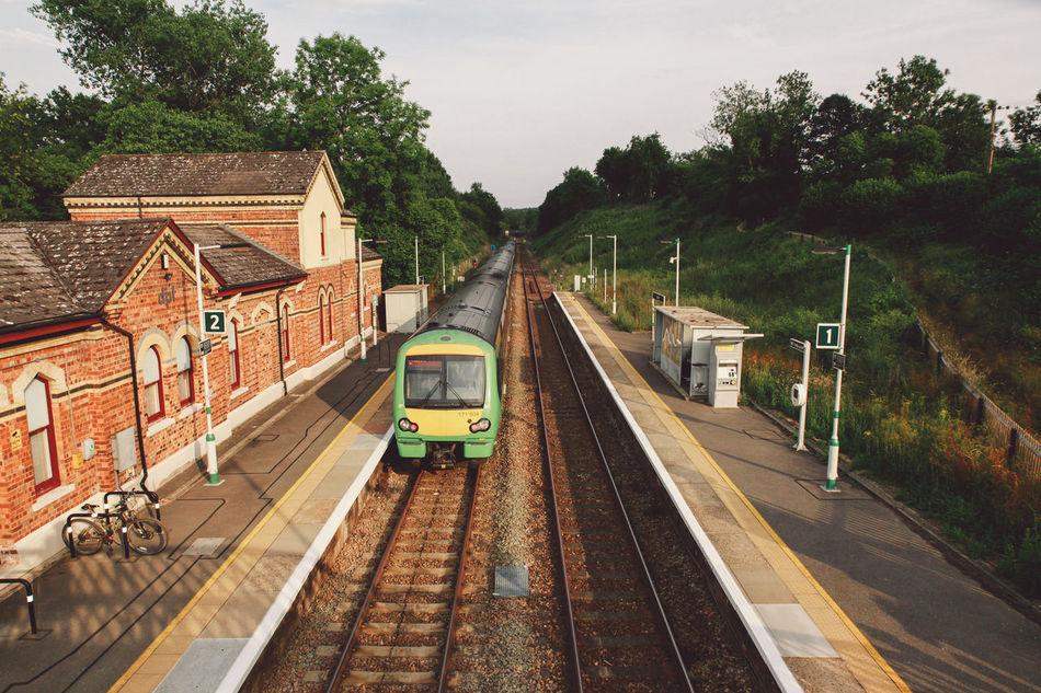 Beautiful stock photos of bahn, transportation, tree, railroad track, mode of transport