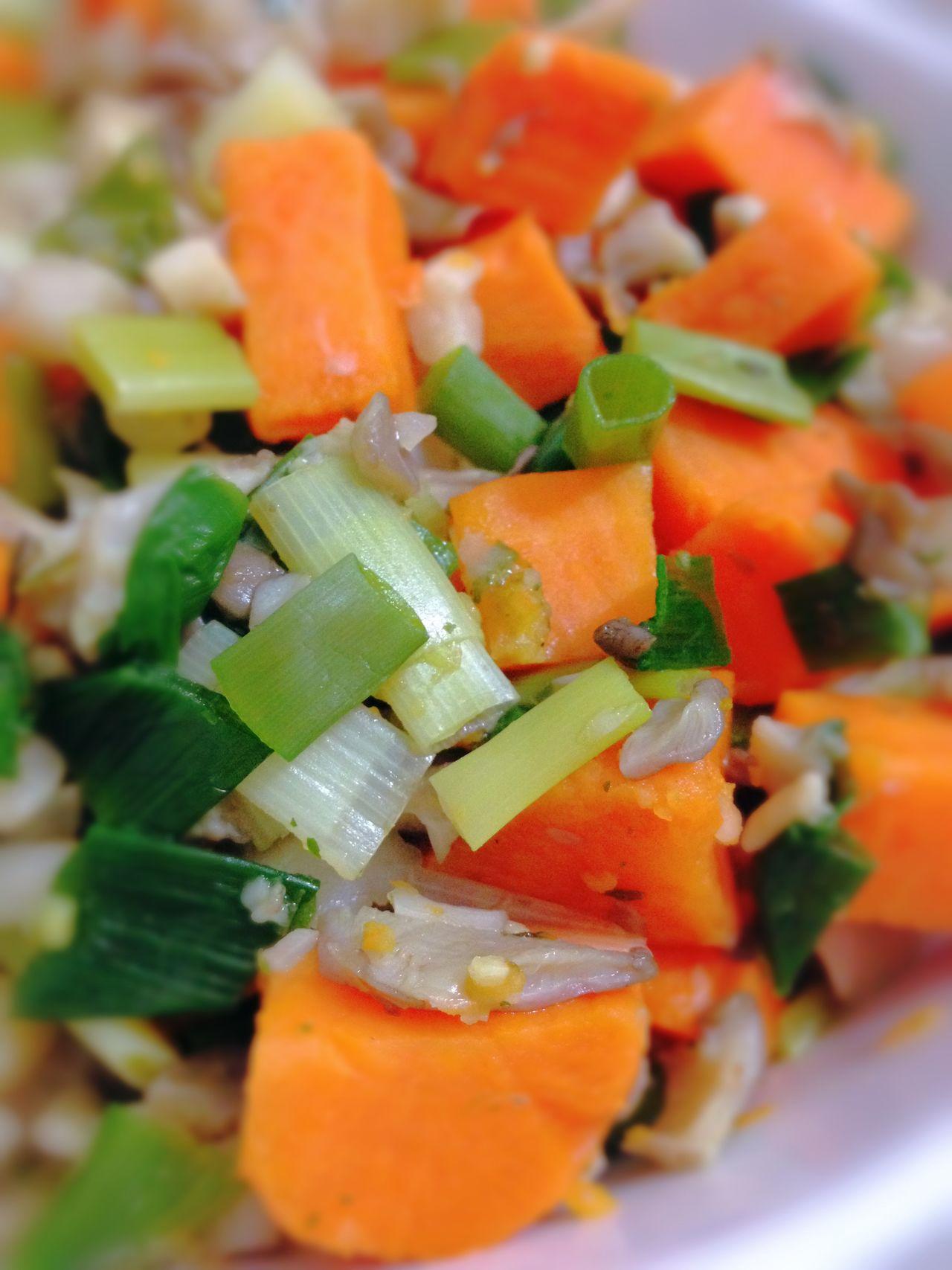 Sweet Potatoes Green Onion Vegetables Vegetarian Food Vegan Food 365 Photos In 2015 Healthy Food My Dinner