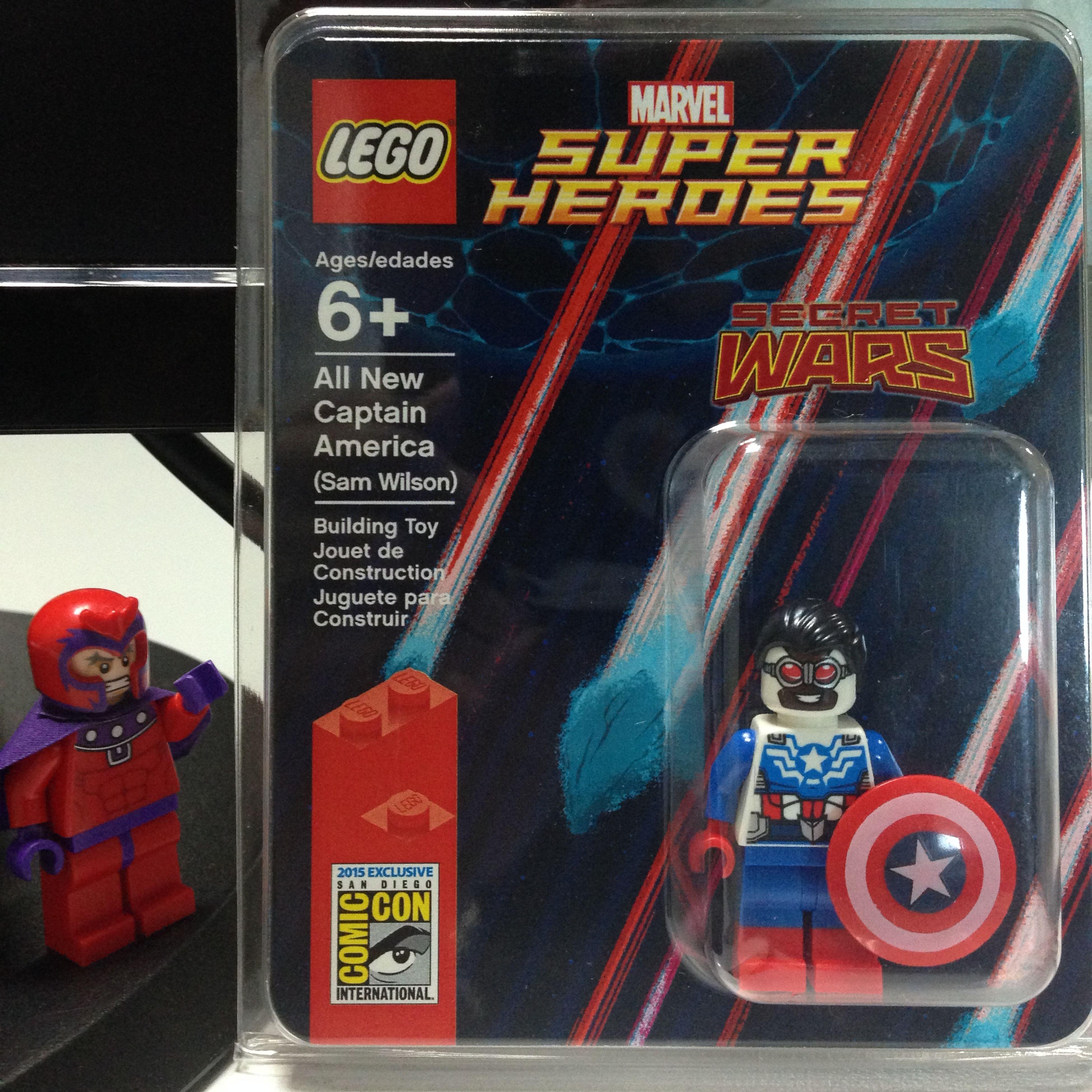 SDCC2015 Comic Con LEGO Marvel Minifigures Lego Minifigures Legosdcc Toys Captain America