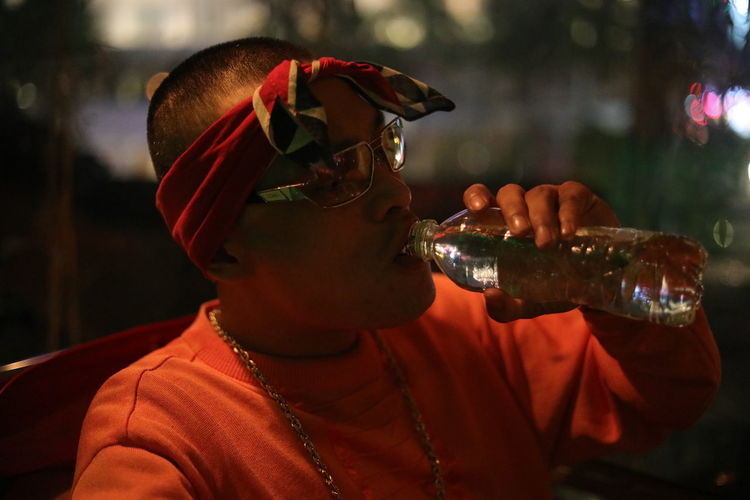 Hiphop Vibss In Ho Chi Minh city by Night Close-up Day Drink Drinking Drinking Glass Focus On Foreground Food And Drink LCking Lifestyles One Person PrettyOG Real People Water