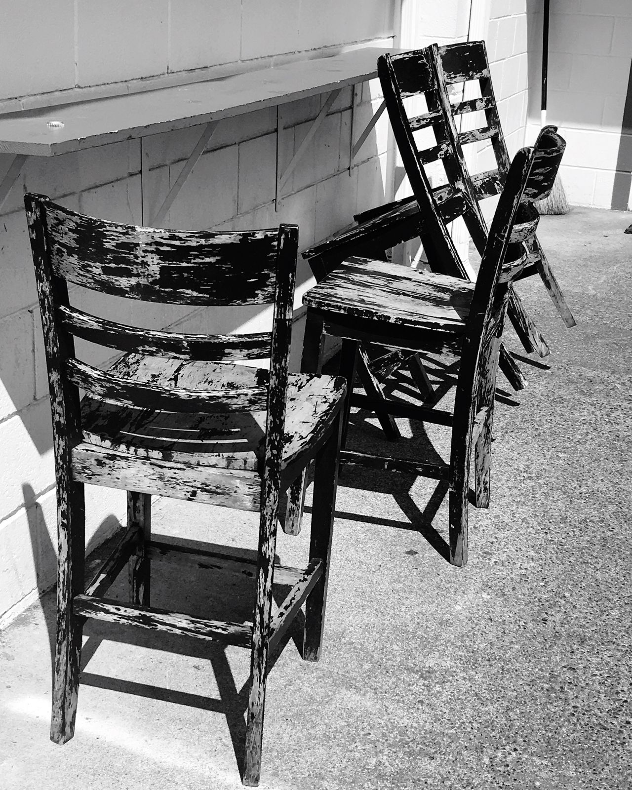 Chair Table No People Furniture Wood - Material Folding Chair Local Taquiera Blackandwhite Day Seat Architecture
