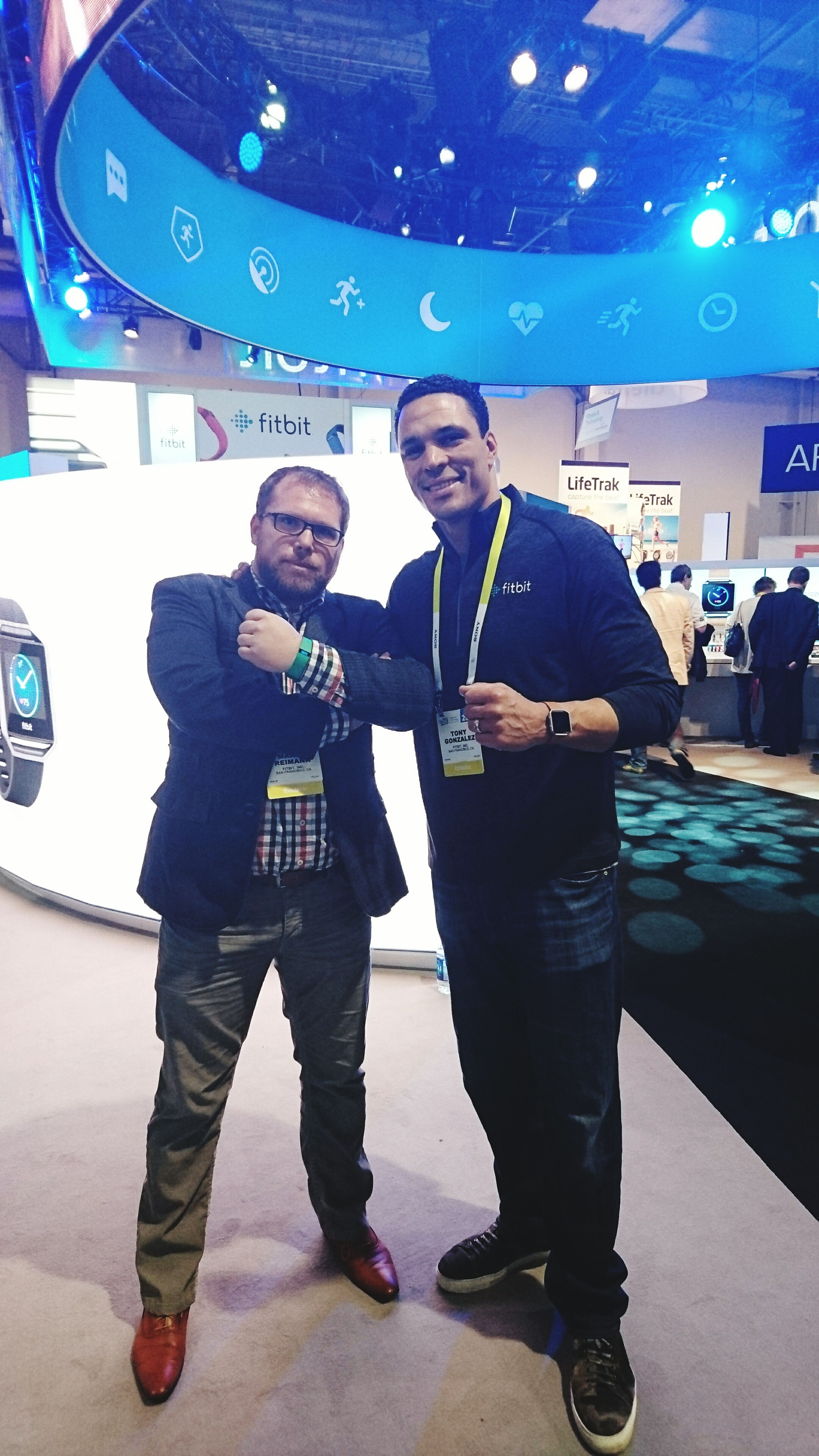 With the legend Tony Gonzalez Enjoying Life That's Me