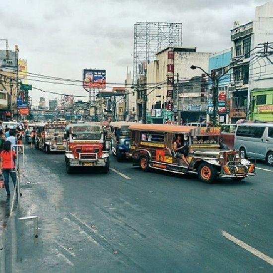 The Jeepney: Truly Manila's king of the road. On España Ave. in Quiapo. Jeepney Quiapo Manila