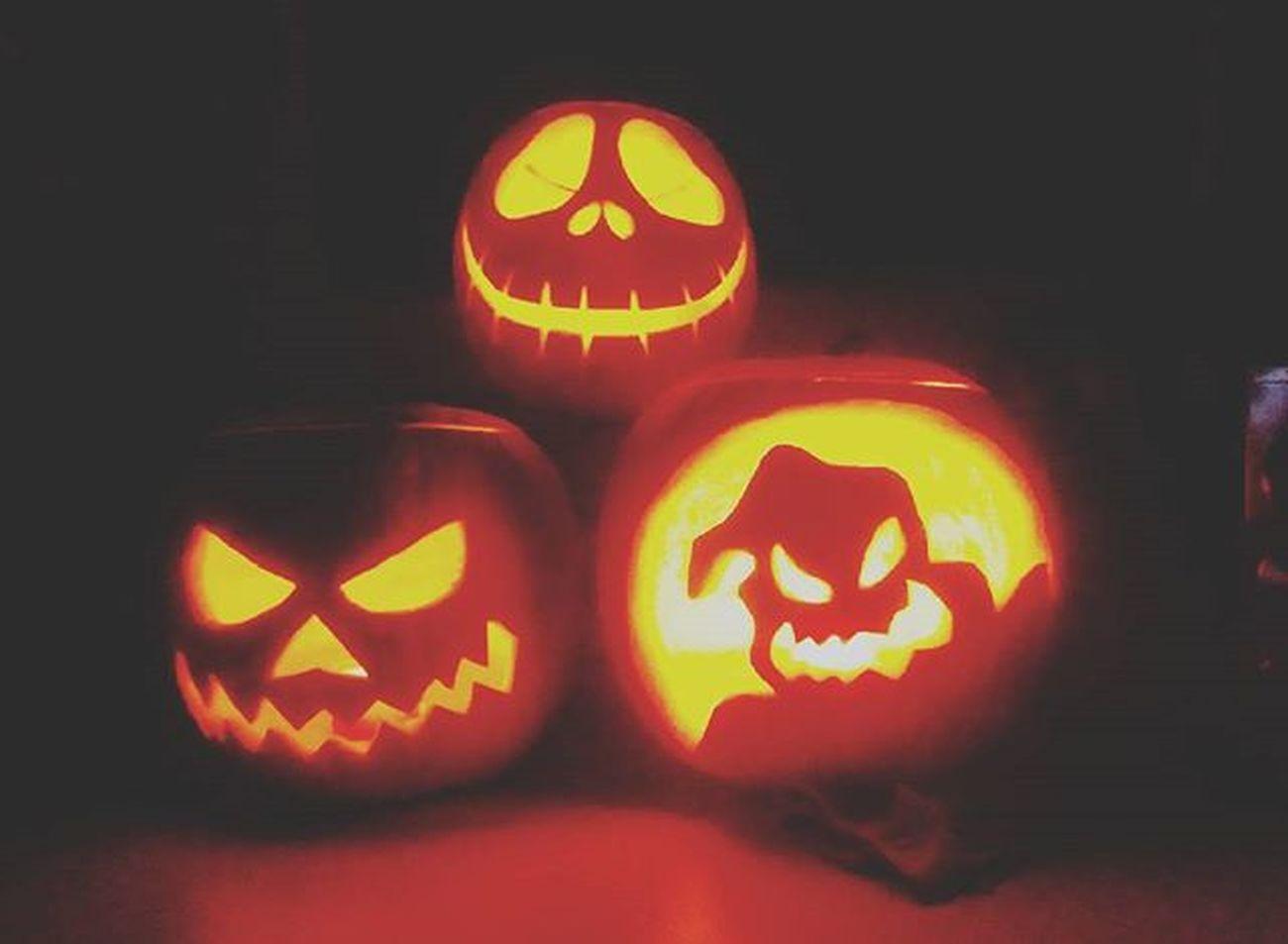 Halloween Halloween2015 Zucca Zucche Intagliate Dolcettooscherzetto Baobao  Nightmarebeforechristmas TheNightmareBeforeChristmas