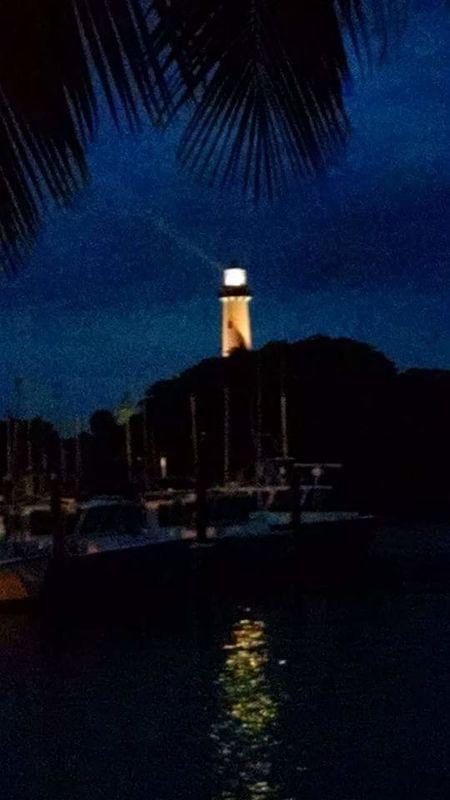 Jupiter Inlet lighthouse Jupiter Lighthouse Lit Up Night Photography Night View Florida Life Red Stripe