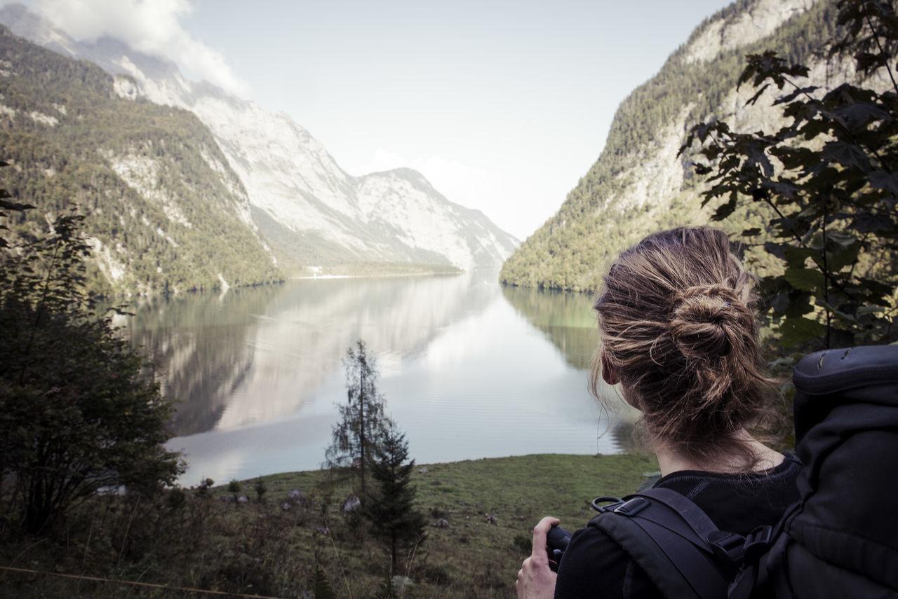berchtesgaden blackandwhite bokeh Hiking Koenigssee Königssee National park nationalpark View Watzmann Woman miles away