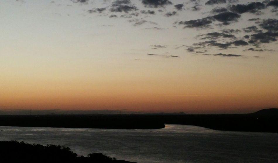 Sun Sunrise Orange Sky No People Nature River Rio Sao Francisco Petrolina Brazil