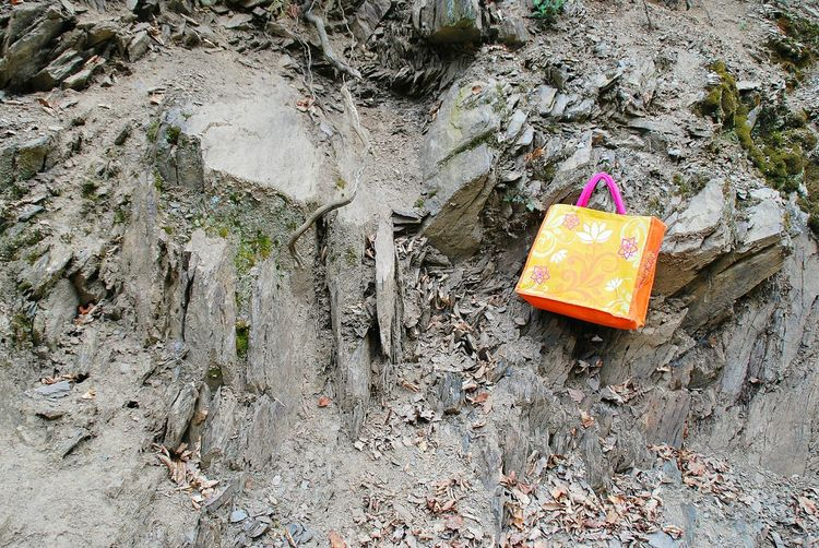Colourful Colours Orange Color Pink Color Steine Stones Showcase April The KIOMI Collection Rocks Rock Formation Felsen Tasche Bag Shoppingbag Farbenfroh No People