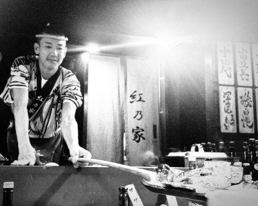 Japanese Chef Robatayaki Black & White Singapore