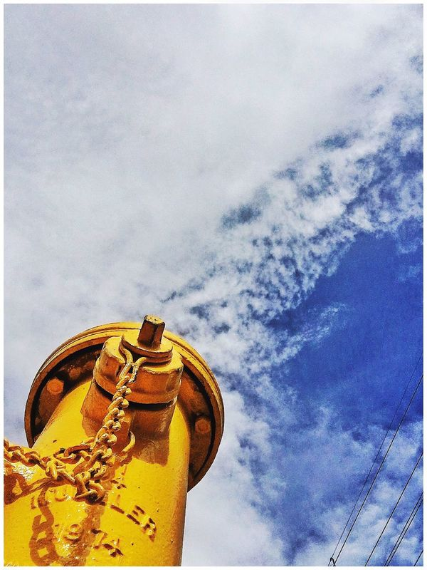 Stand Tall. Check This Out Taking Photos Enjoying Life Firehydrant Firehydrantporn Yellow Sky Sky And Clouds Forced Perspective Las Vegas From Below From My Point Of View Iphonephotography Eye4photography  Architectural Detail Architecture IPhoneography Showcase August 2016 Malephotographerofthemonth This Week On Eyeem EyeEm Gallery Dramatic Angles The Street Photographer - 2017 EyeEm Awards