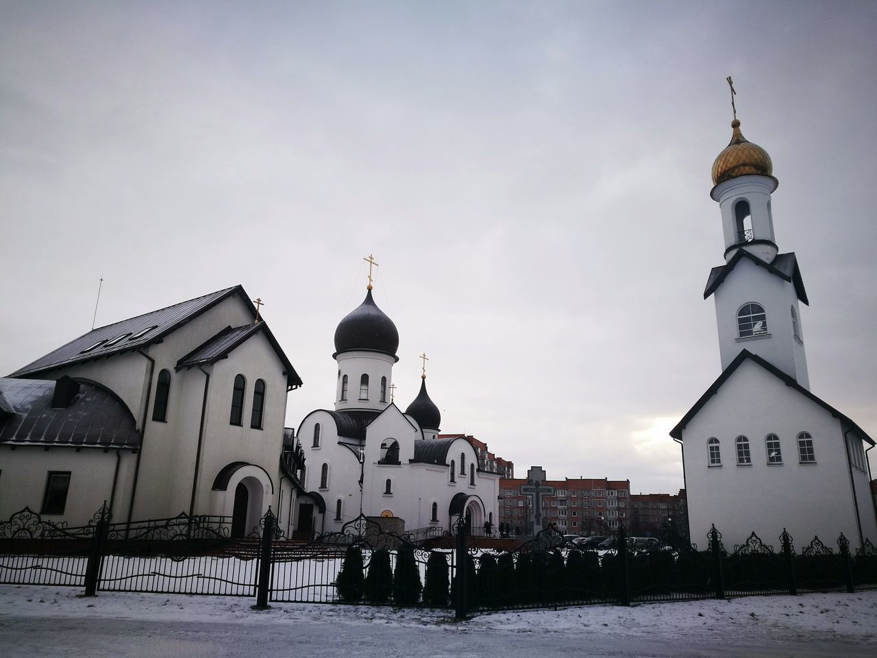 Slavian chirch, Klaipeda Religion Architecture Winter Spirituality Building Exterior Travel Destinations Place Of Worship Cold Temperature Snow Outdoors Built Structure Dome City Snowing Sky No People Night