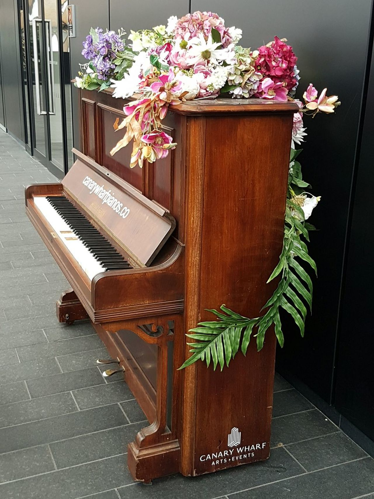 Piano Moments Piano Public Piano Canary Wharf In London Flower