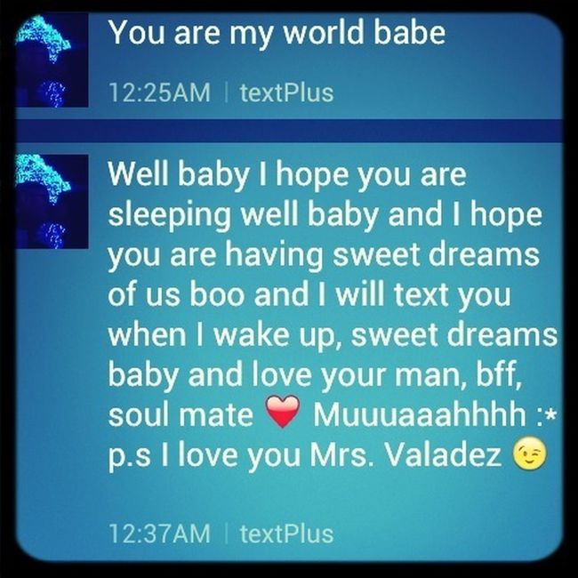 This Is Rhe Text I Woke Up To This Morning <3