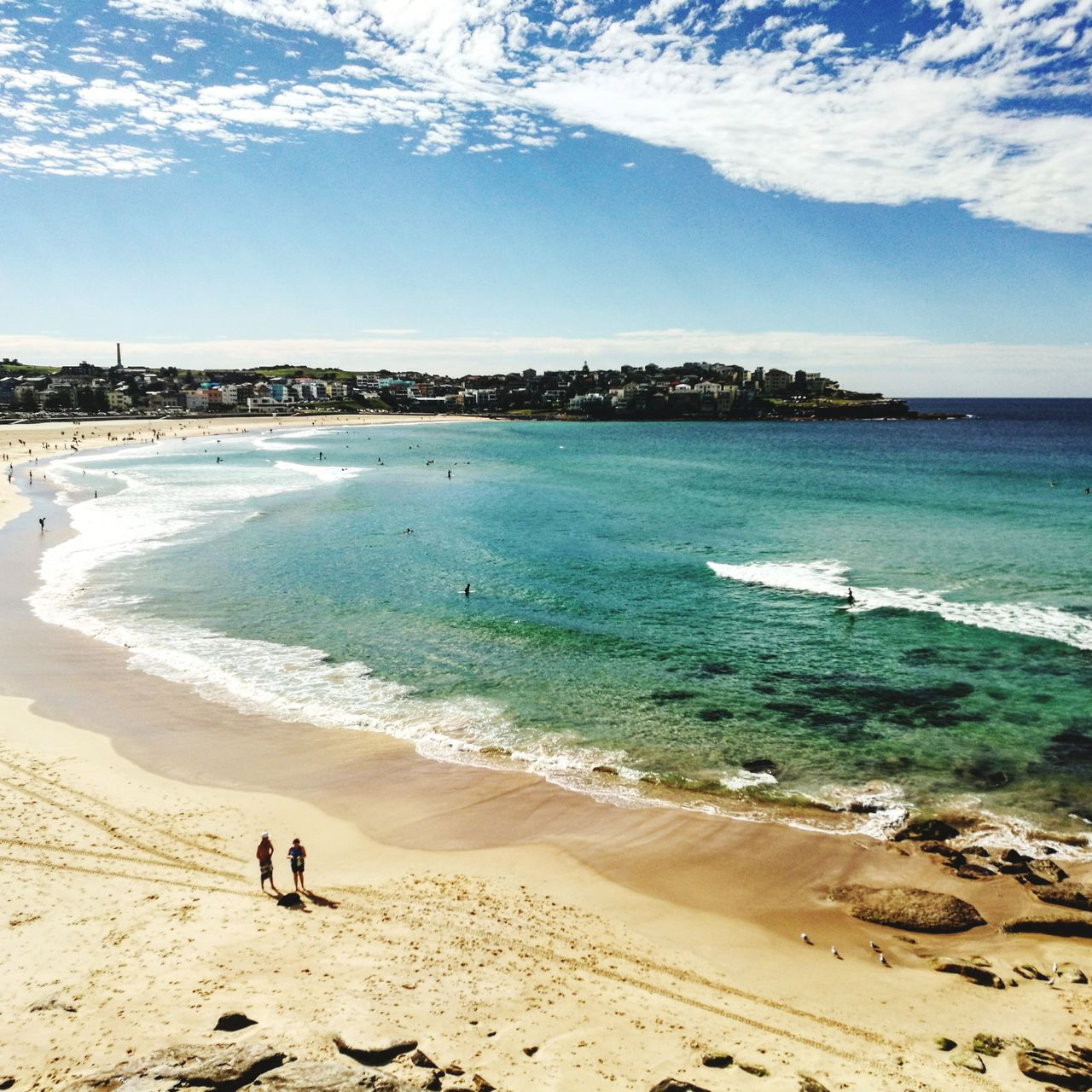 Bondi Beach, Sydney - Australia Beach Sand Sea Vacations Nature Summer Sky Full Length Horizon Over Water Tranquility Water Day People Walking Adults Only Water's Edge Scenics Adult Wave Outdoors Bondi Beach Australia
