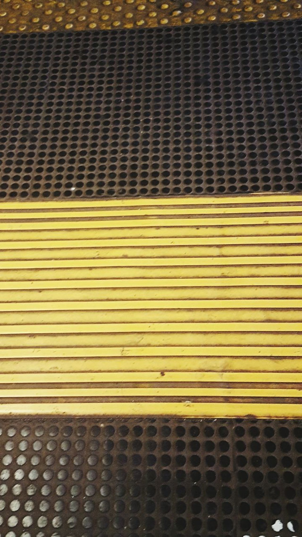 Pattern Yellow Textured  High Angle View No People Day Full Frame Outdoors Close-up Architecture Industrial Italia Italy🇮🇹 Metro Station Metro Piave Napoli ❤ Napoli Industry Urbanphotography Subway Train Rail Transportation Transportation Railroad Station Platform Public Transportation