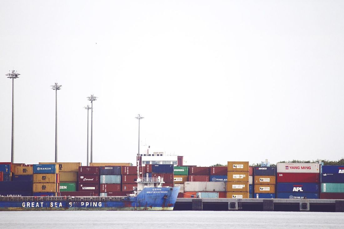 Shipping Containers Ship Cochin Harbor RePicture Travel